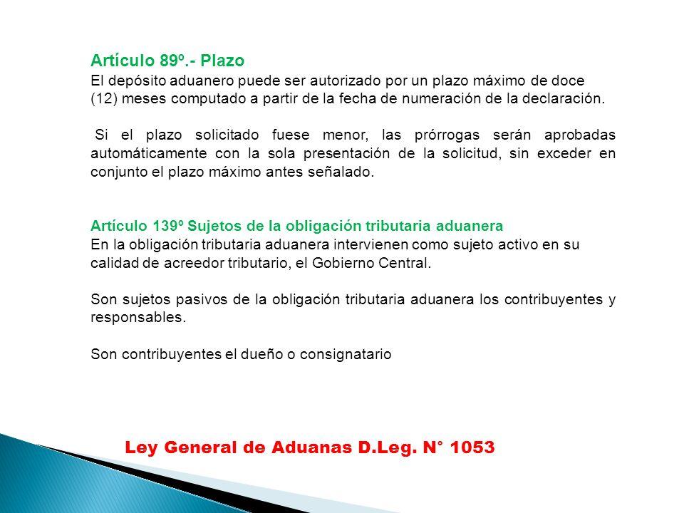 Ley General de Aduanas D.Leg. N° 1053
