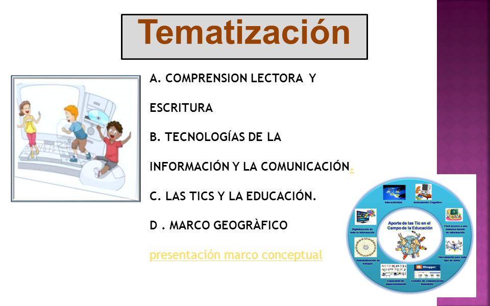 Tematización A. COMPRENSION LECTORA Y ESCRITURA