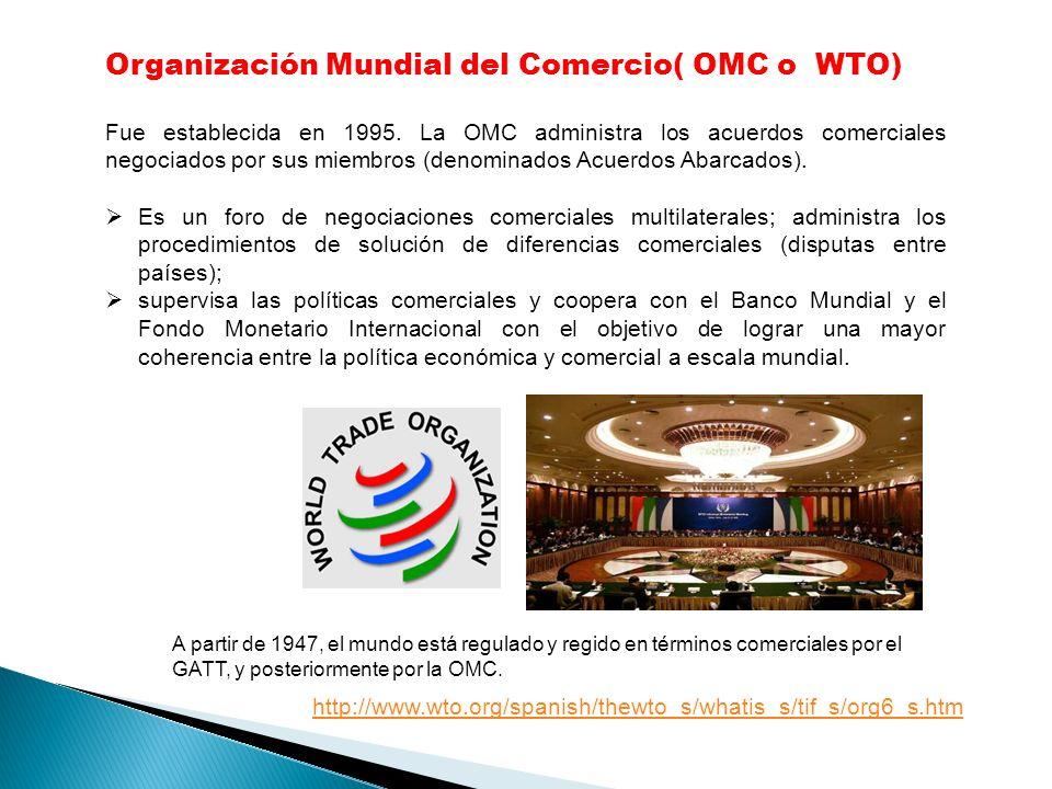 Organización Mundial del Comercio( OMC o WTO)