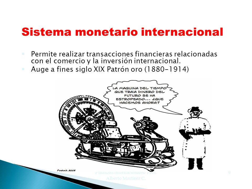Finanzas Internacionales/ Prof. Alberto Martínez C.