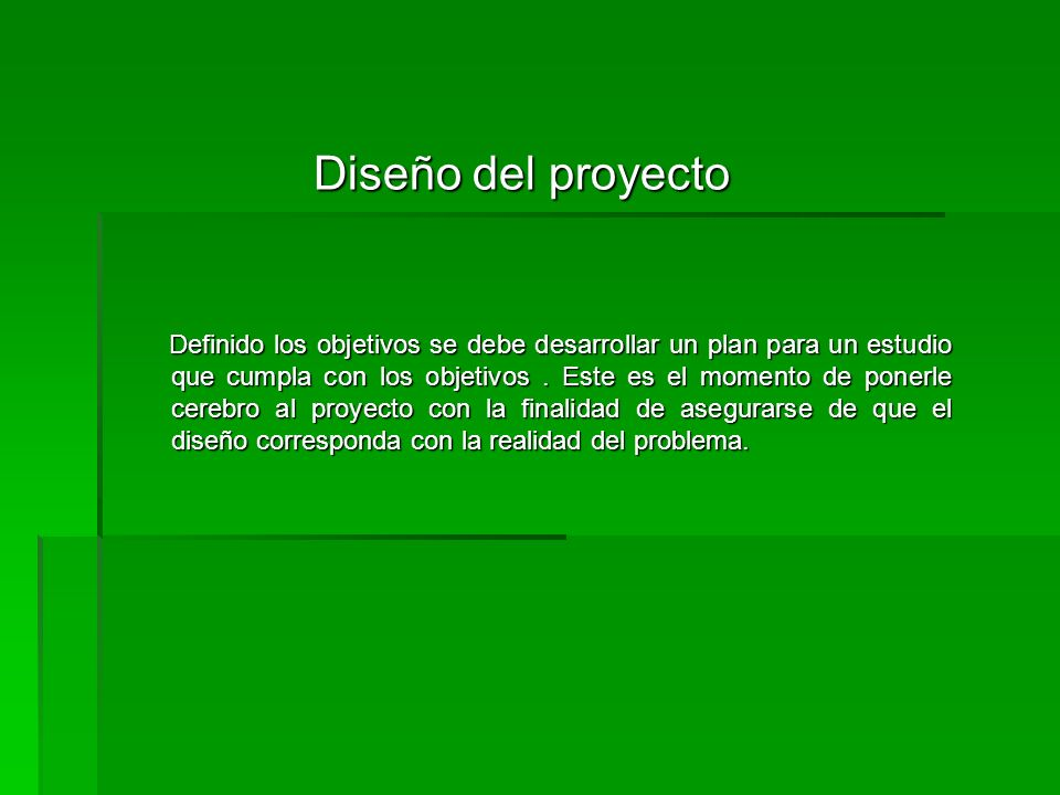 Diseño del proyecto