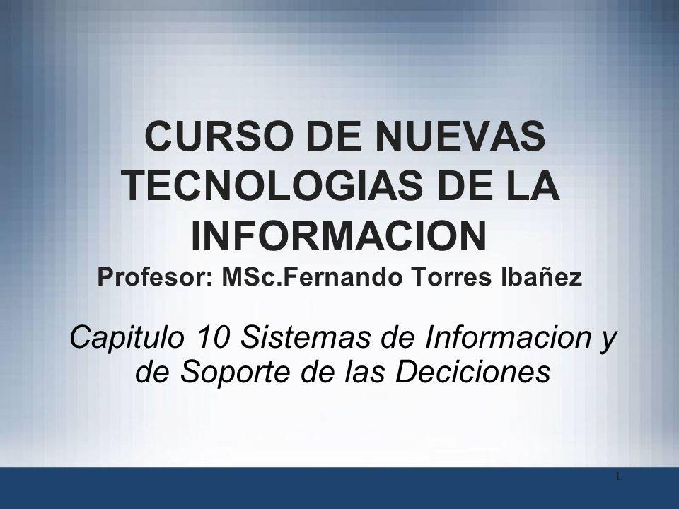 Capitulo 10 Sistemas de Informacion y de Soporte de las Deciciones