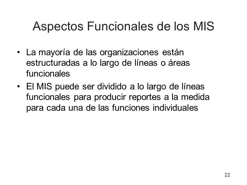 Aspectos Funcionales de los MIS