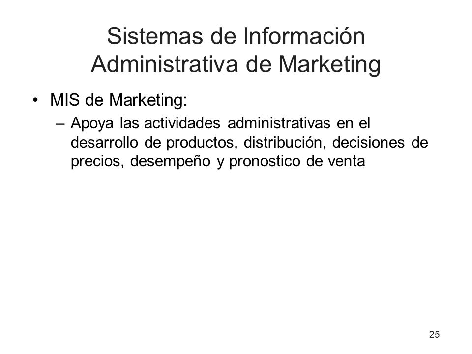Sistemas de Información Administrativa de Marketing