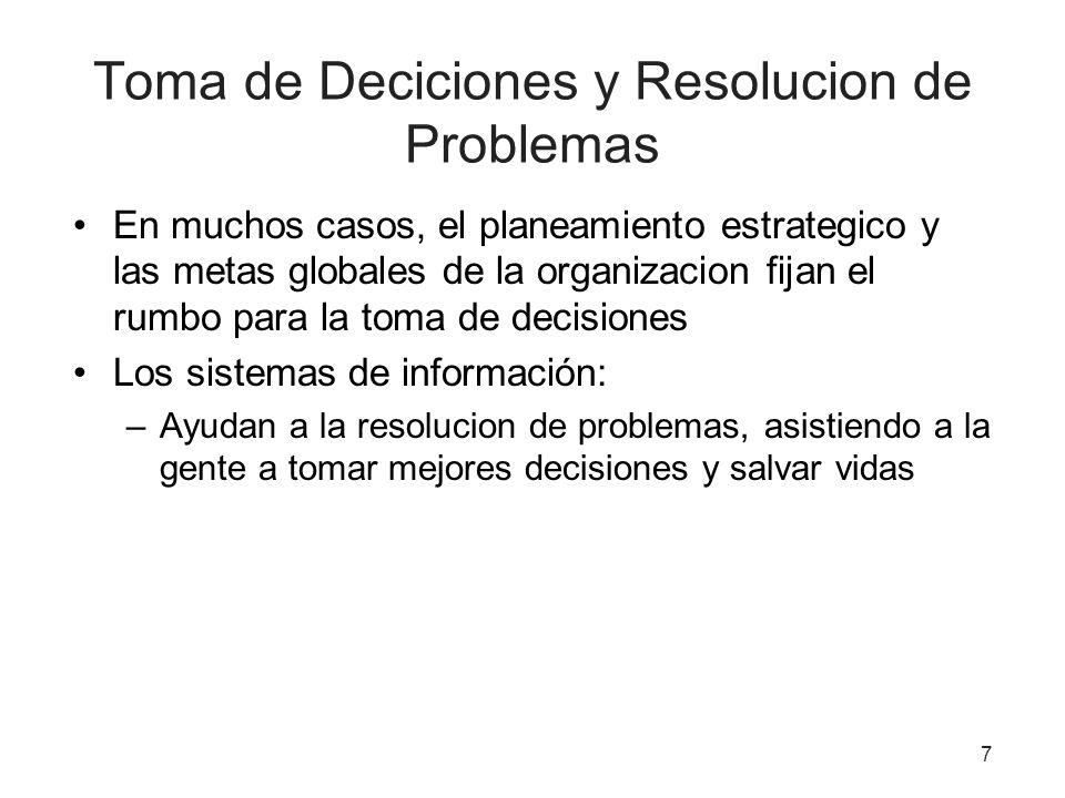 Toma de Deciciones y Resolucion de Problemas