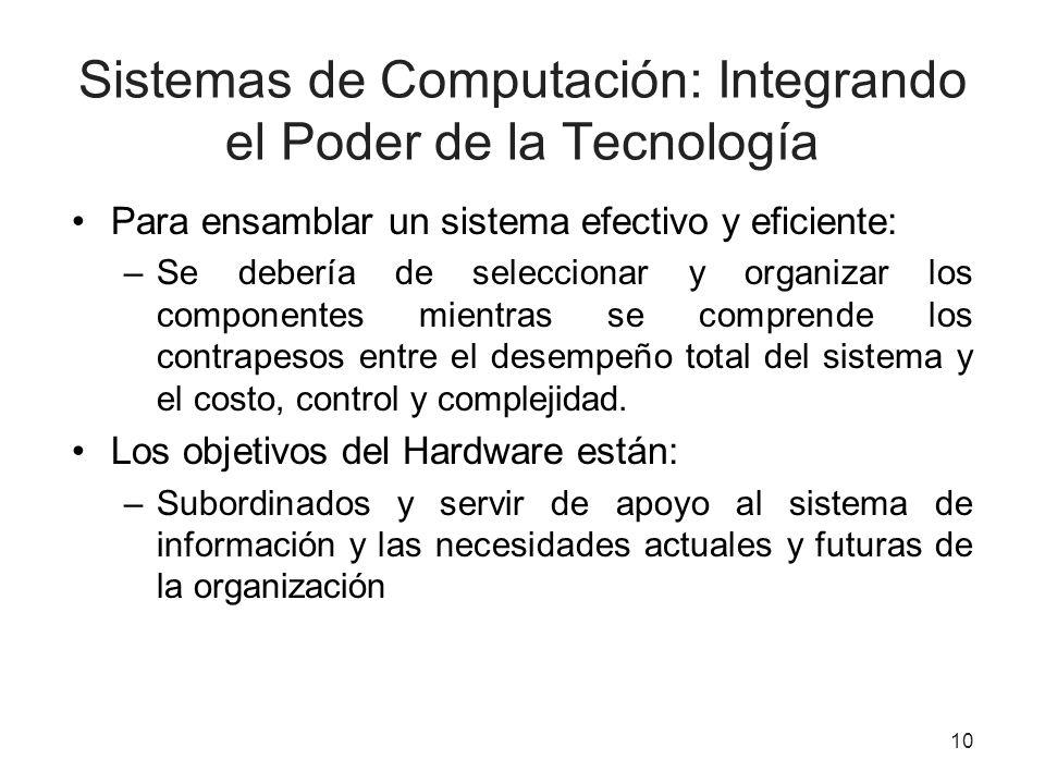 Sistemas de Computación: Integrando el Poder de la Tecnología