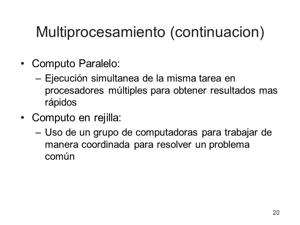 Multiprocesamiento (continuacion)
