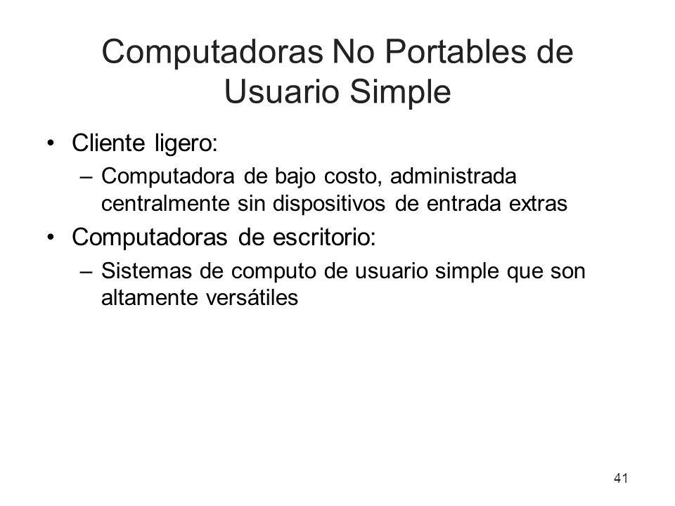 Computadoras No Portables de Usuario Simple