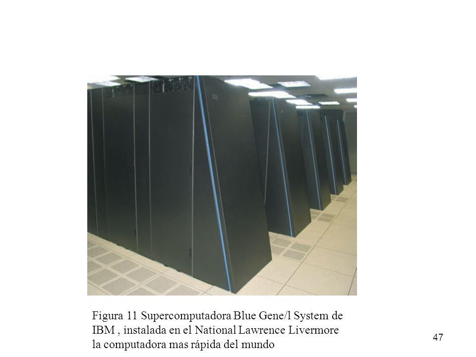Figura 11 Supercomputadora Blue Gene/l System de IBM , instalada en el National Lawrence Livermore la computadora mas rápida del mundo