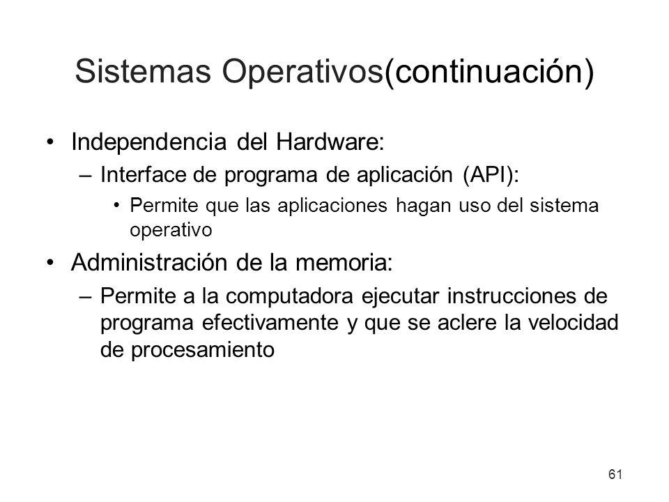 Sistemas Operativos(continuación)