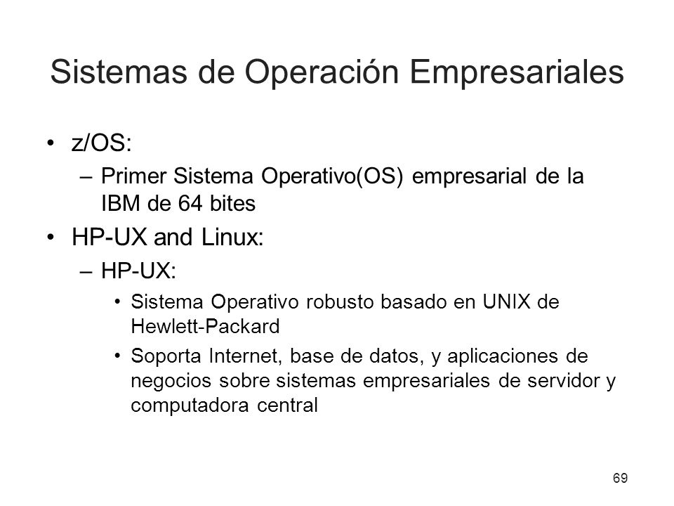 Sistemas de Operación Empresariales