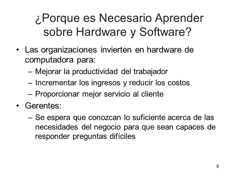 ¿Porque es Necesario Aprender sobre Hardware y Software