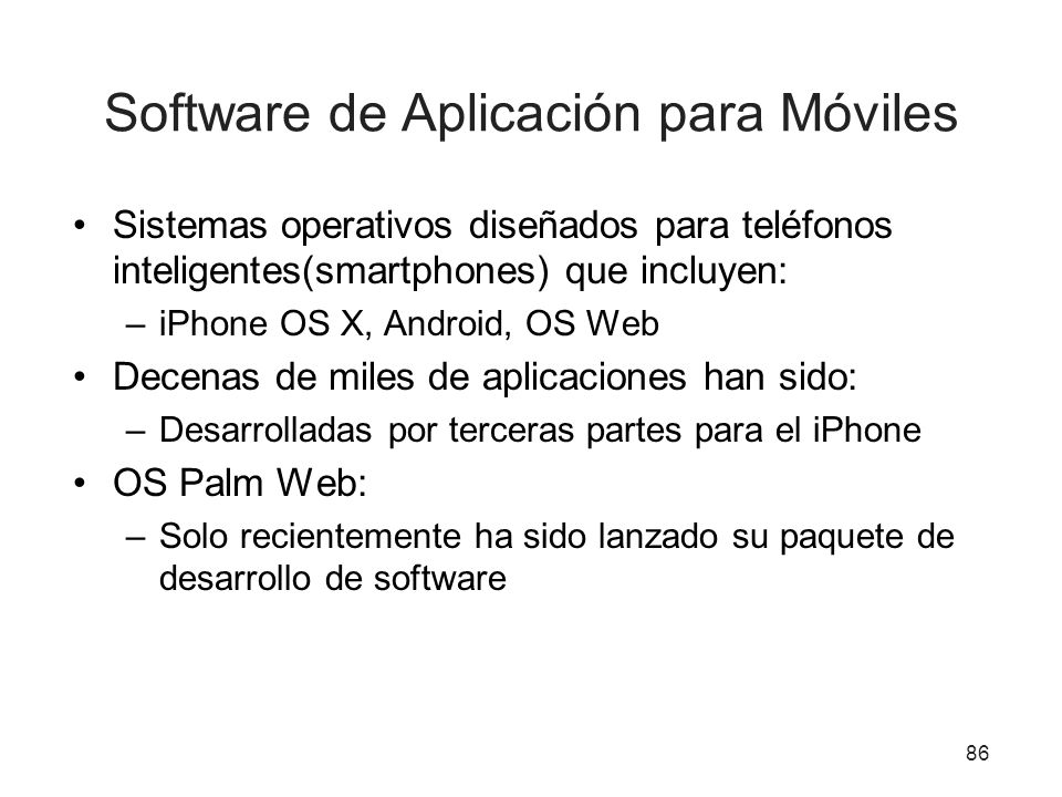 Software de Aplicación para Móviles