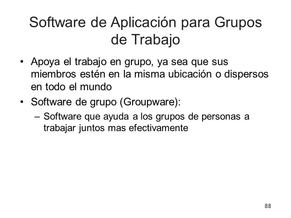 Software de Aplicación para Grupos de Trabajo