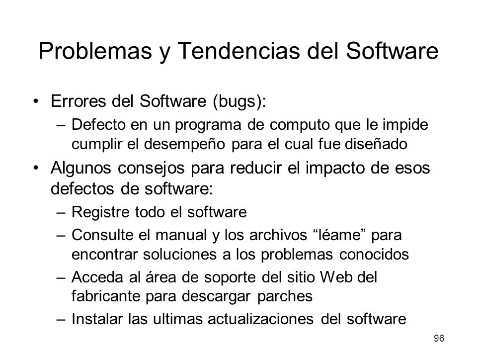 Problemas y Tendencias del Software