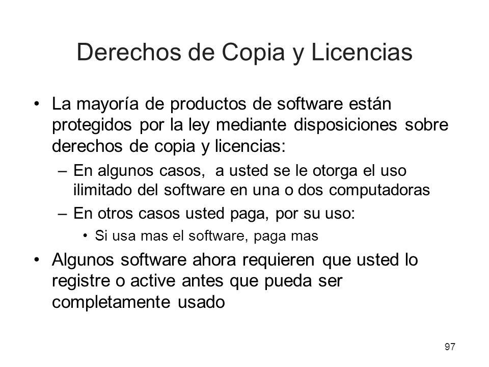 Derechos de Copia y Licencias
