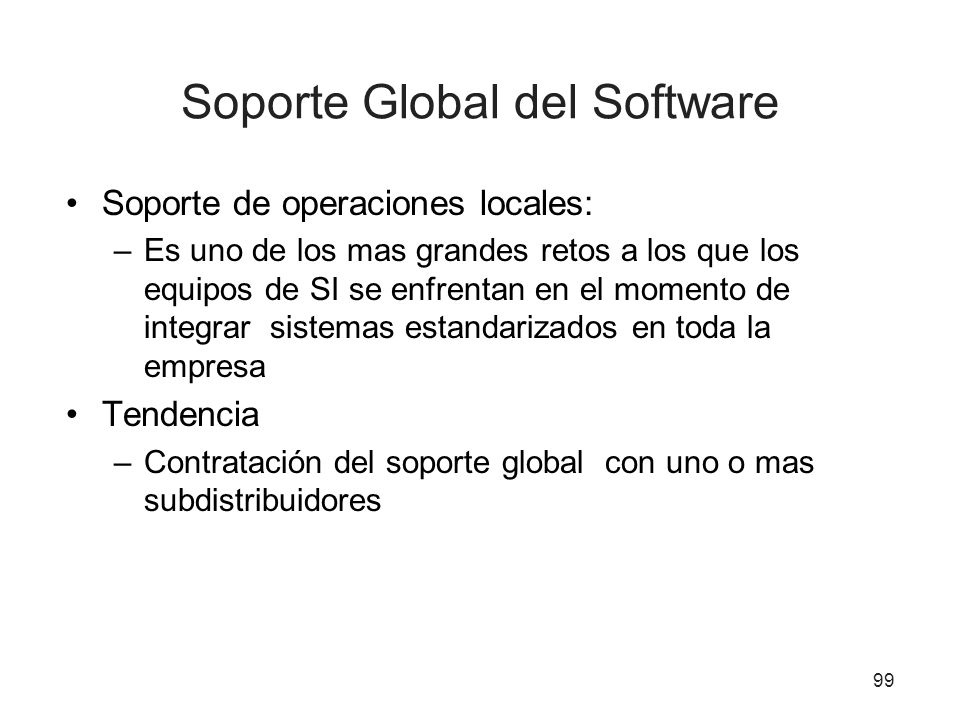 Soporte Global del Software