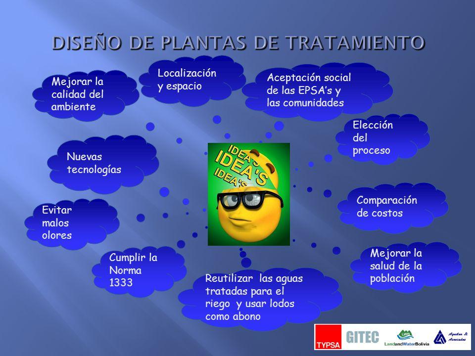 DISEÑO DE PLANTAS DE TRATAMIENTO