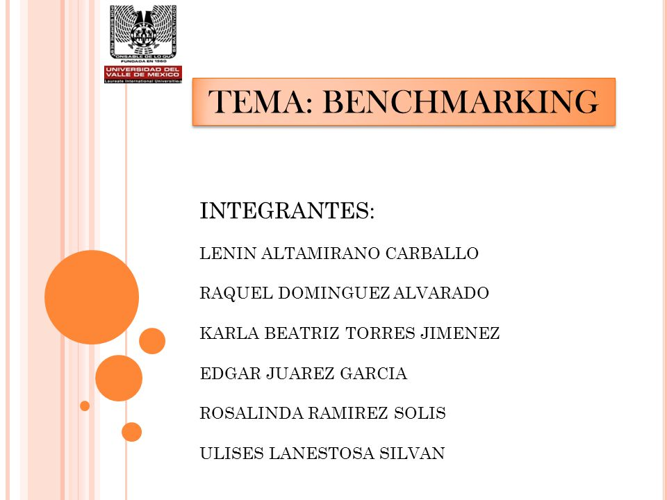 TEMA: BENCHMARKING INTEGRANTES: LENIN ALTAMIRANO CARBALLO