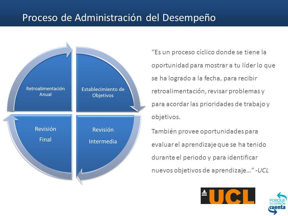 Proceso de Administración del Desempeño