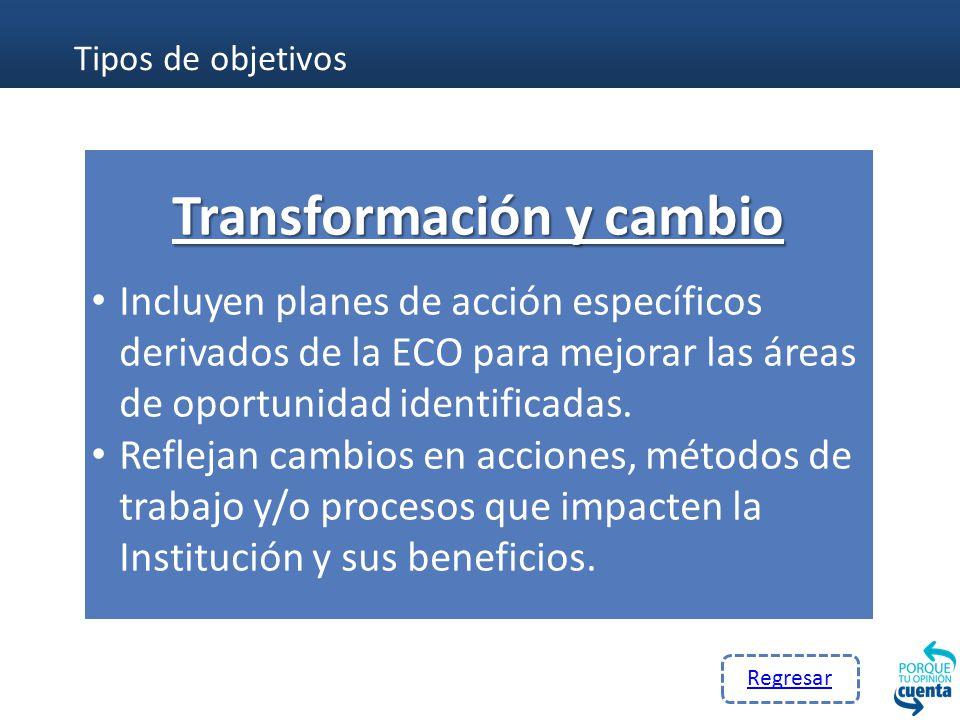 Transformación y cambio