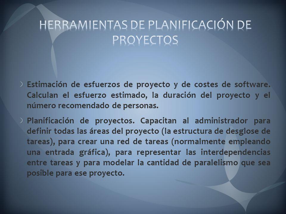HERRAMIENTAS DE PLANIFICACIÓN DE PROYECTOS
