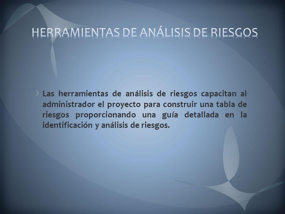 HERRAMIENTAS DE ANÁLISIS DE RIESGOS