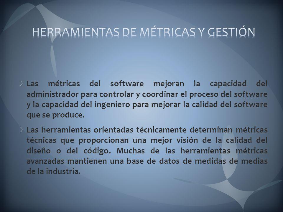 HERRAMIENTAS DE MÉTRICAS Y GESTIÓN