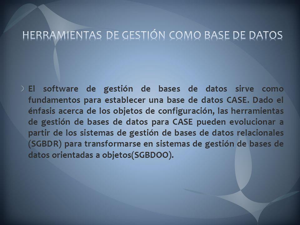 HERRAMIENTAS DE GESTIÓN COMO BASE DE DATOS