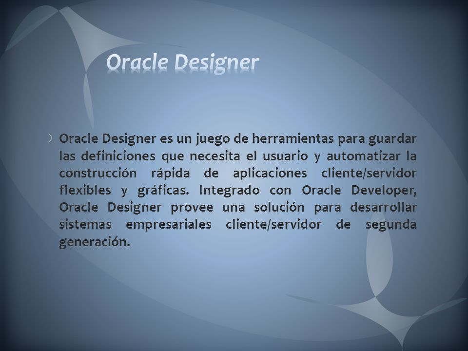 Oracle Designer