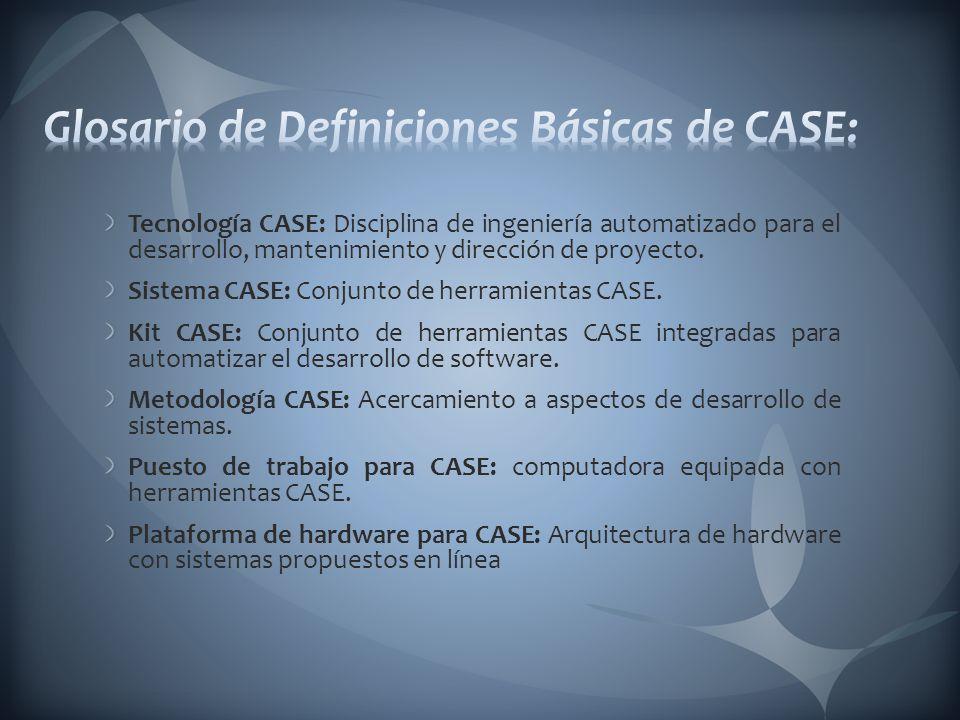 Glosario de Definiciones Básicas de CASE: