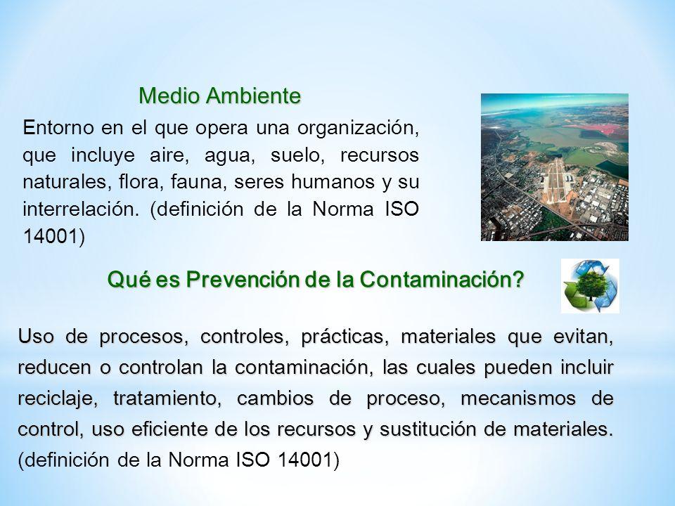 Qué es Prevención de la Contaminación