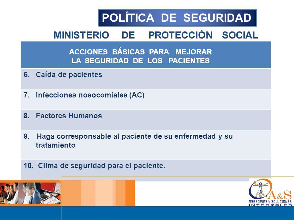 POLÍTICA DE SEGURIDAD MINISTERIO DE PROTECCIÓN SOCIAL