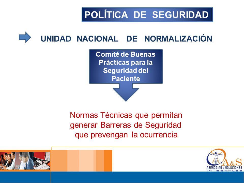 Comité de Buenas Prácticas para la Seguridad del Paciente
