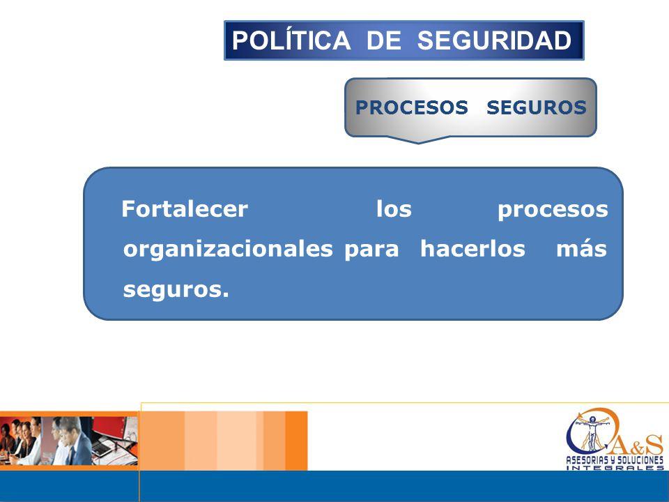POLÍTICA DE SEGURIDAD PROCESOS SEGUROS.