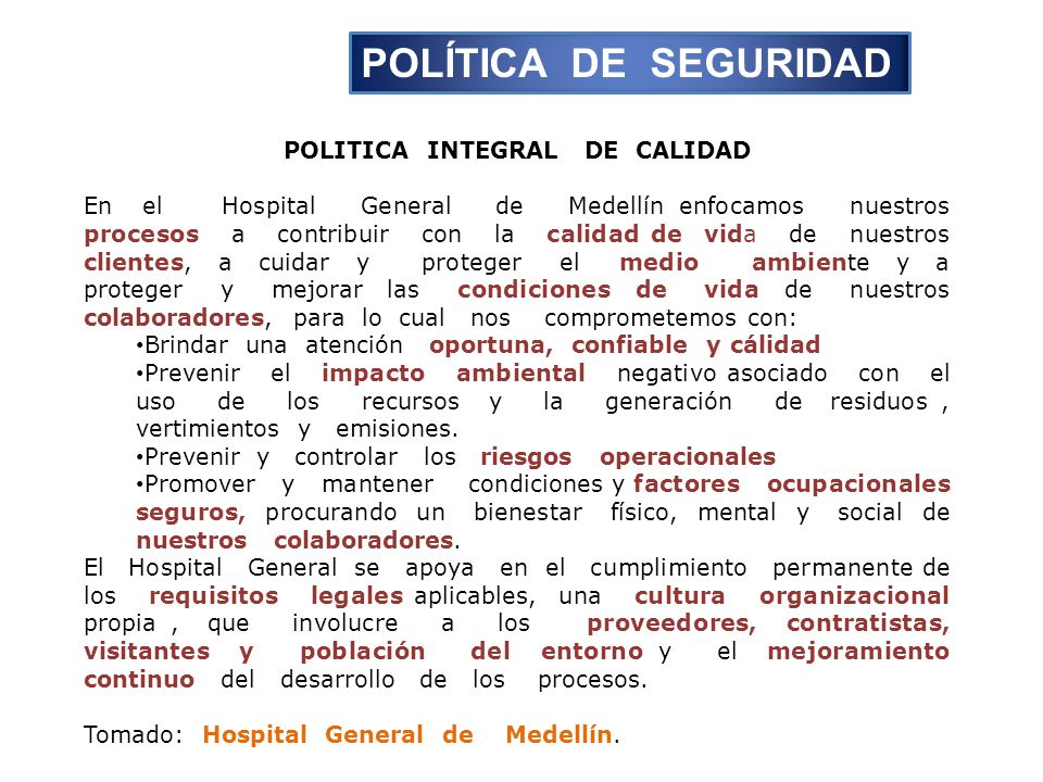 POLITICA INTEGRAL DE CALIDAD