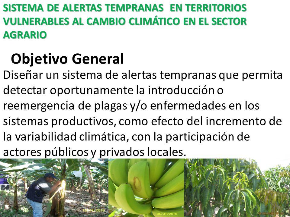 SISTEMA DE ALERTAS TEMPRANAS EN TERRITORIOS VULNERABLES AL CAMBIO CLIMÁTICO EN EL SECTOR AGRARIO