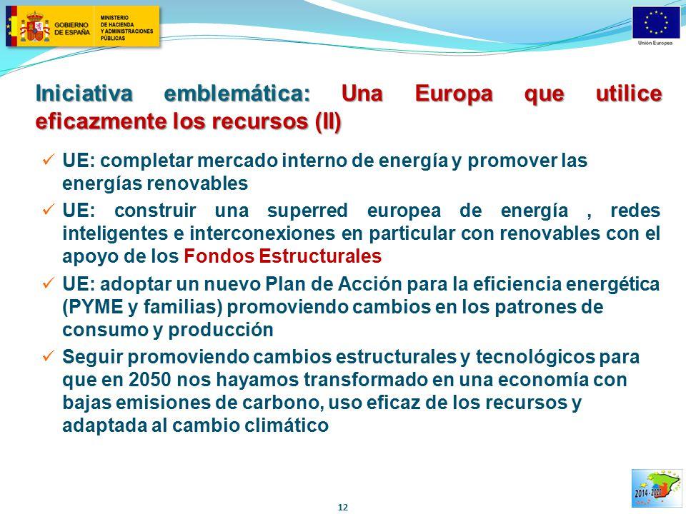 Iniciativa emblemática: Una Europa que utilice eficazmente los recursos (II)