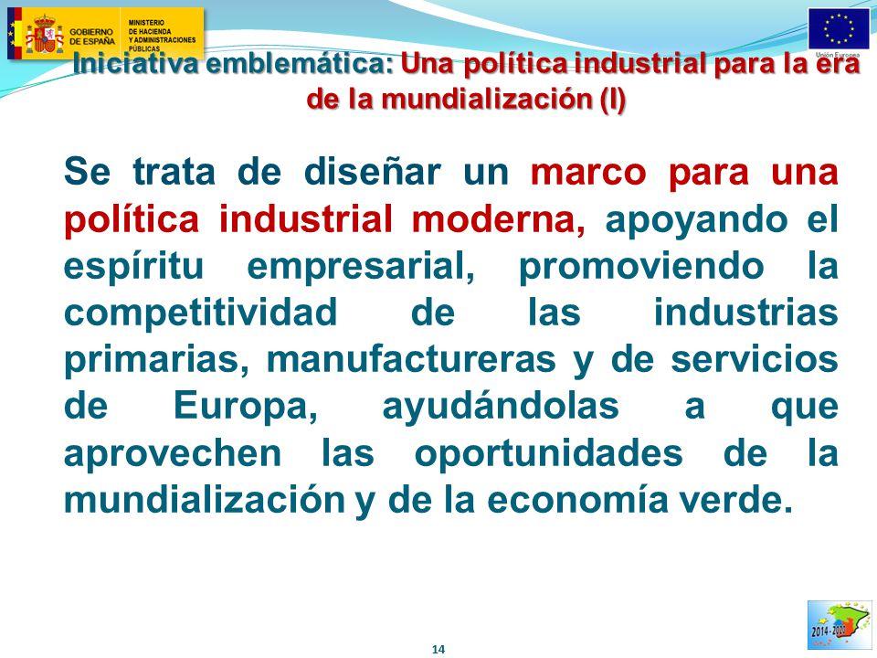Iniciativa emblemática: Una política industrial para la era de la mundialización (I)