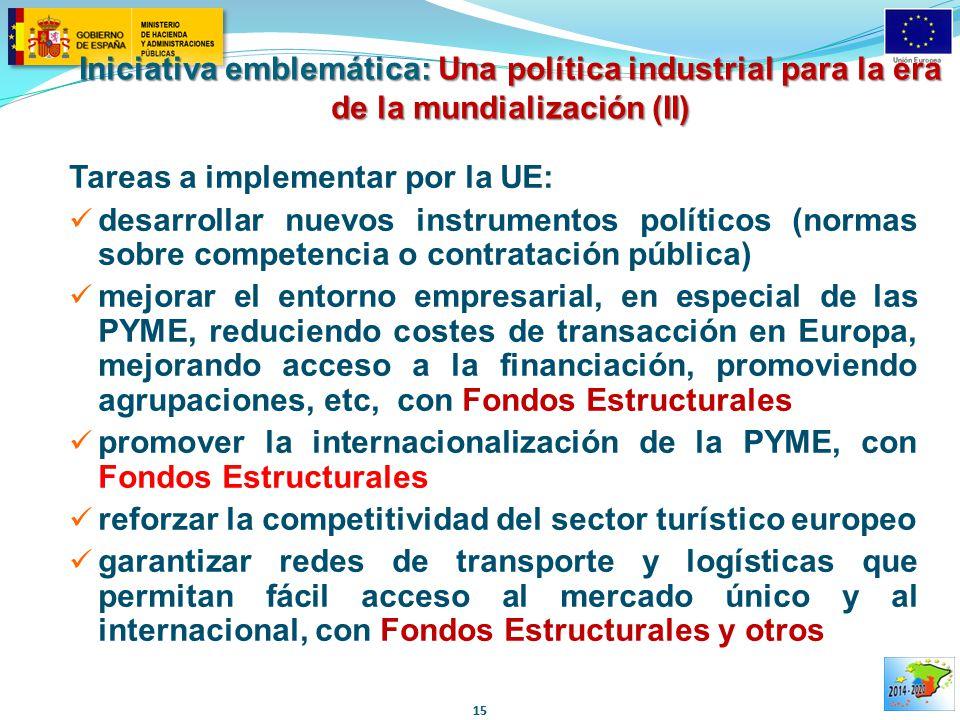 Iniciativa emblemática: Una política industrial para la era de la mundialización (II)