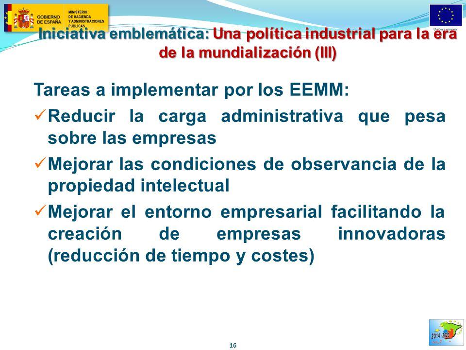 Tareas a implementar por los EEMM: