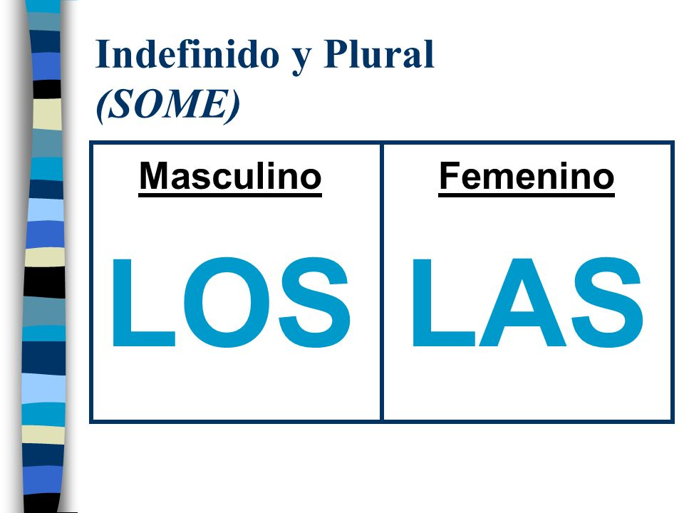 Indefinido y Plural (SOME)