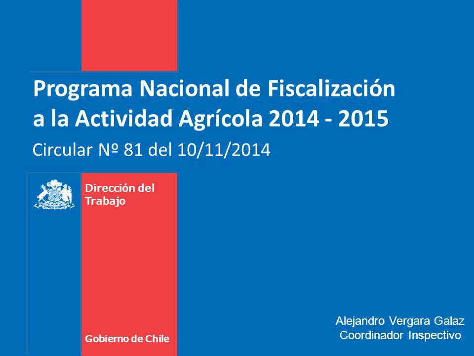 Programa Nacional de Fiscalización a la Actividad Agrícola 2014 - 2015