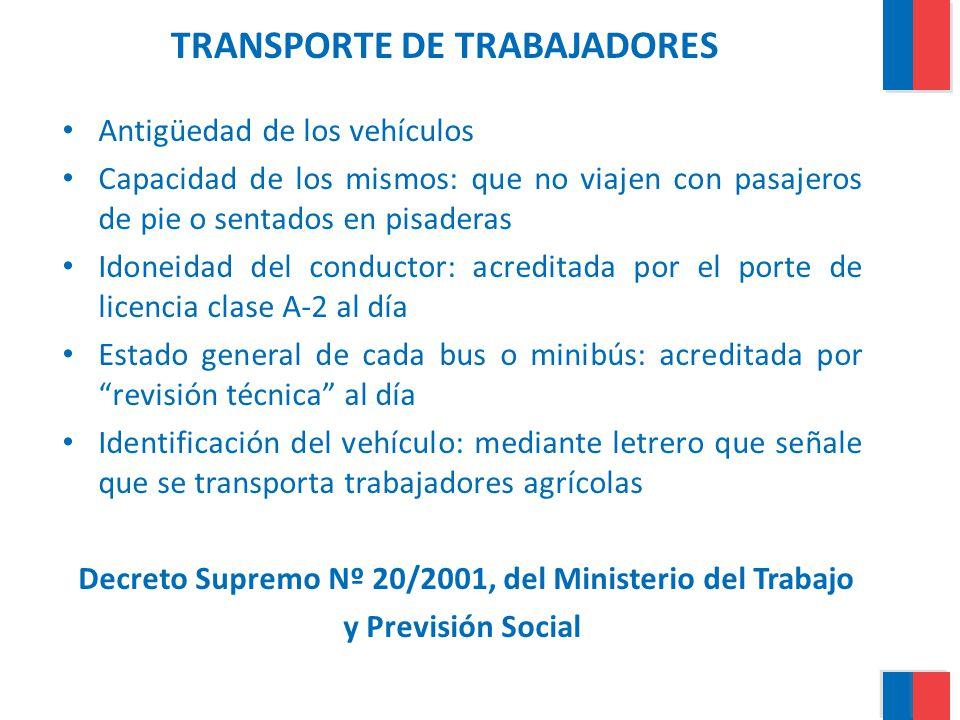 TRANSPORTE DE TRABAJADORES