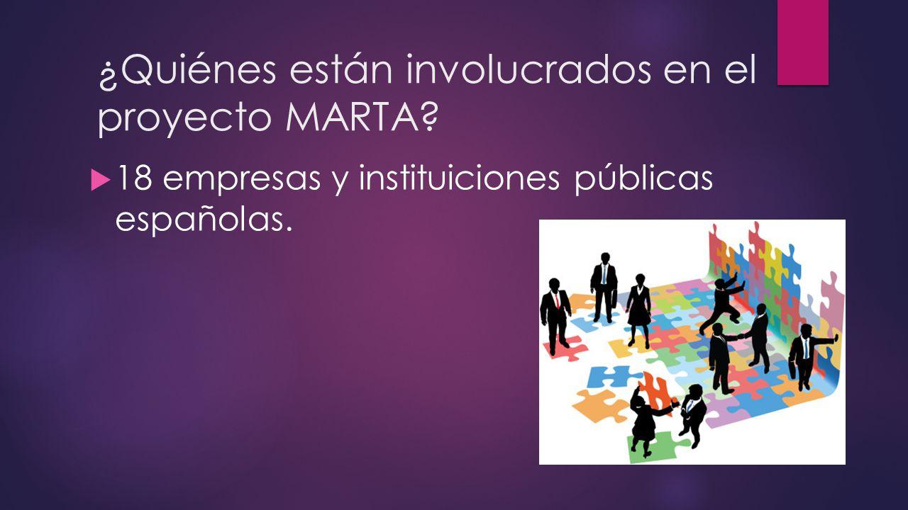 ¿Quiénes están involucrados en el proyecto MARTA