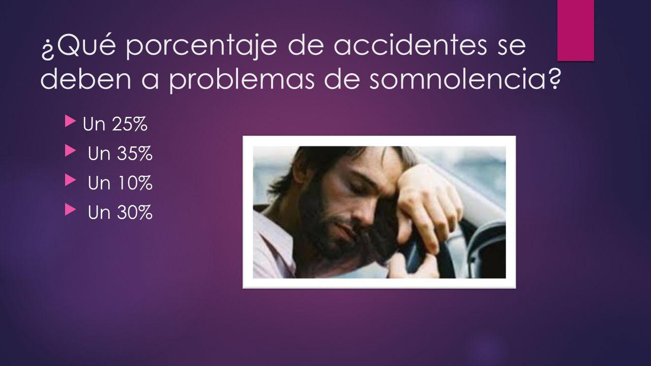 ¿Qué porcentaje de accidentes se deben a problemas de somnolencia