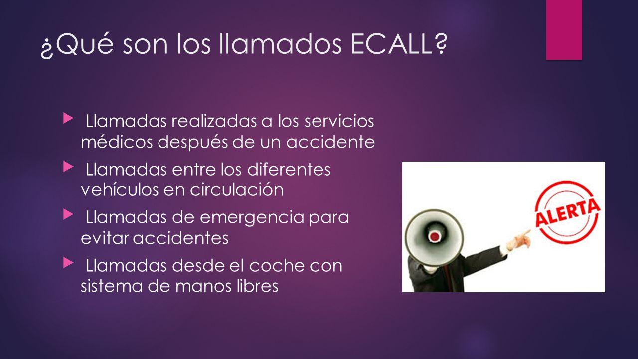 ¿Qué son los llamados ECALL