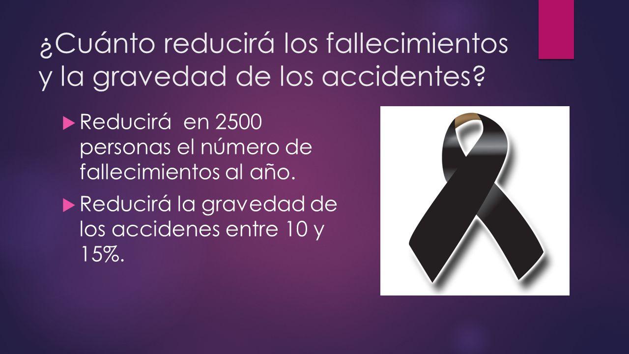 ¿Cuánto reducirá los fallecimientos y la gravedad de los accidentes