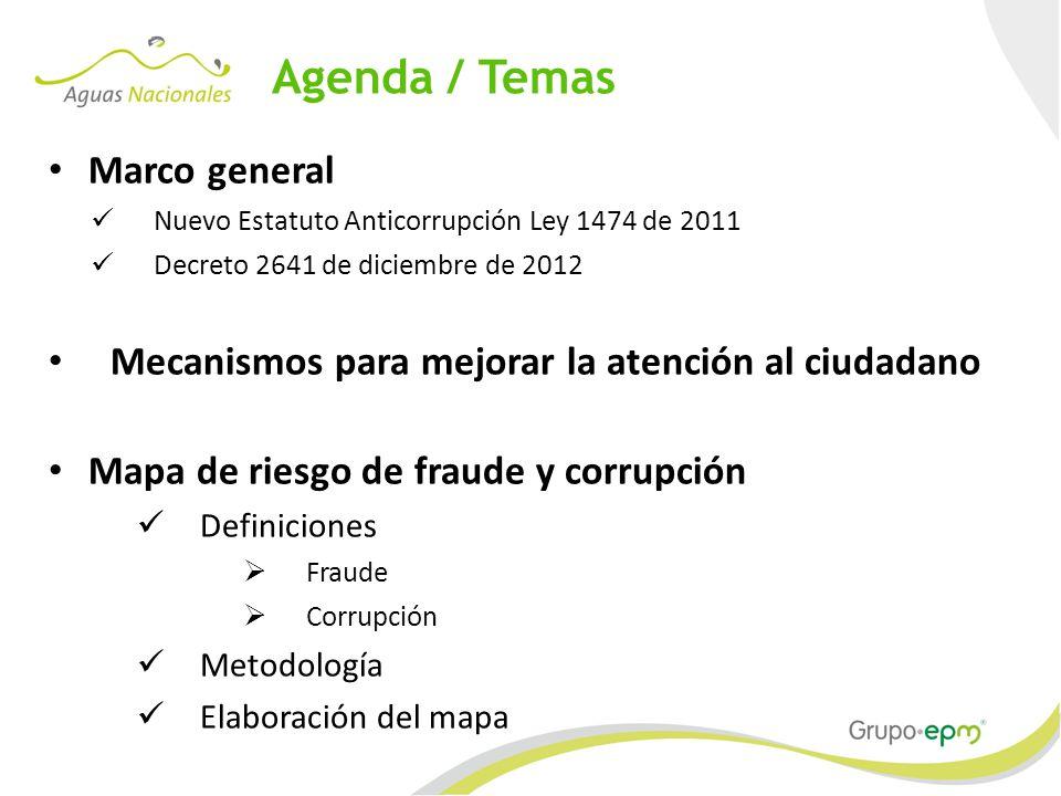 Agenda / Temas Marco general