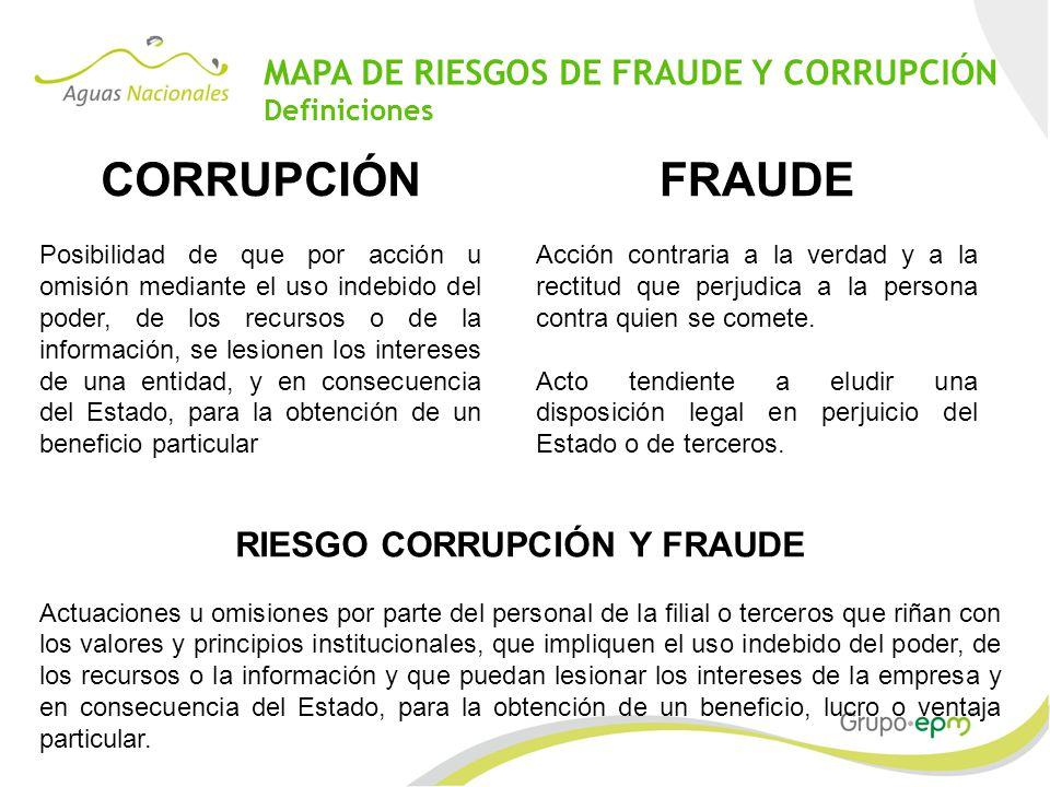 RIESGO CORRUPCIÓN Y FRAUDE